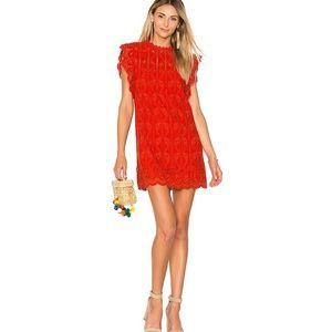 Make Offer Tularosa Red Clayton Tunic Lace Dress